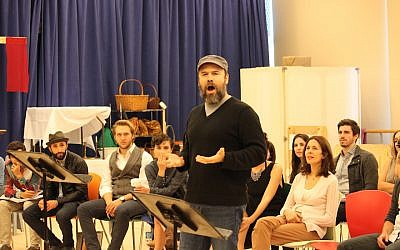 "Danny Burstein, rehearsing the role of Teyve in ""Fiddler on the Roof,"" at New West 42nd Street Studios. (Lindsay Hoffman/Jeffrey Richards Associates)"