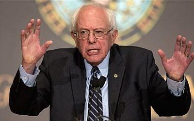 Democratic presidential candidate Sen. Bernie Sanders speaks at Georgetown University in Washington on November 19, 2015. (AP/Carolyn Kaster)