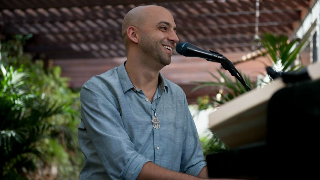 Idan Raichel, at the launch of his latest album and his first solo work (Courtesy Lior Keter)