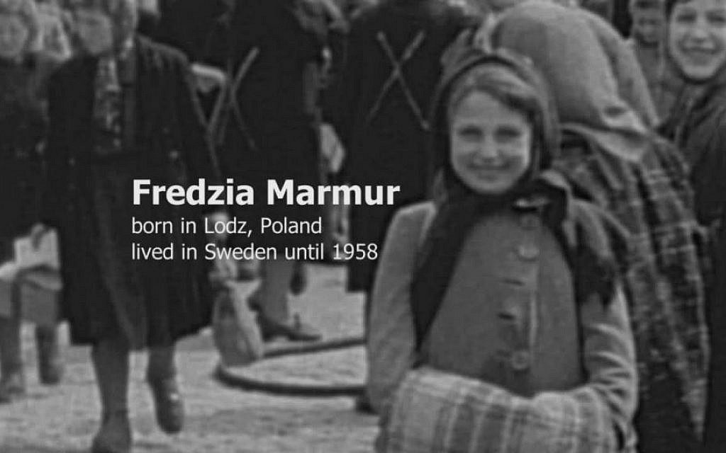 Fredzia Marmur, a Holocaust survivor, was one of 60 refugees identified by the filmmakers of 'Every Face Has a Name,' a 2015 documentary based on 1945 newsreel footage from the Swedish port Malmo (courtesy: Menemsha Films)