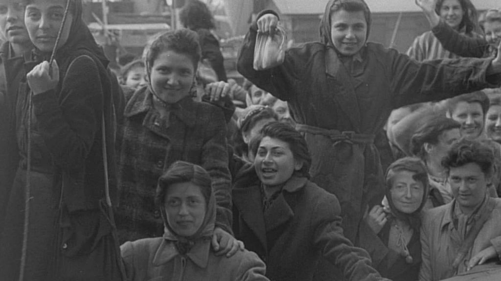 Footage from 'Every Face Has a Name,' a 2015 documentary about the process of identifying the names of refugees in post-liberation newsreel footage from Sweden's Malmo port in 1945 (courtesy: Menemsha Films)