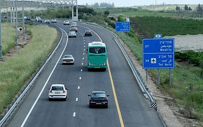 Illustrative photo of the Route 6 toll road, also known as the Trans-Israel Highway, March 30 2008. (Moshe Shai/Flash90)