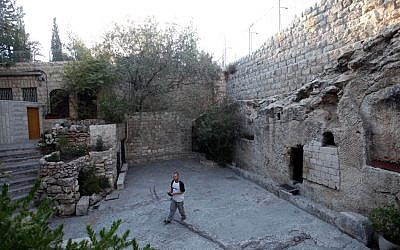 The Garden Tomb outside the walls of the Old City, Jerusalem. (Flash90/Yossi Zamir)