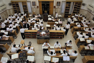 For haredi men, Torah study is the most exalted occupation (Yaakov Naumi/Flash90)