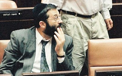 Aryeh Deri in the Knesset, Sept. 27 1993. (Photo: Flash 90)