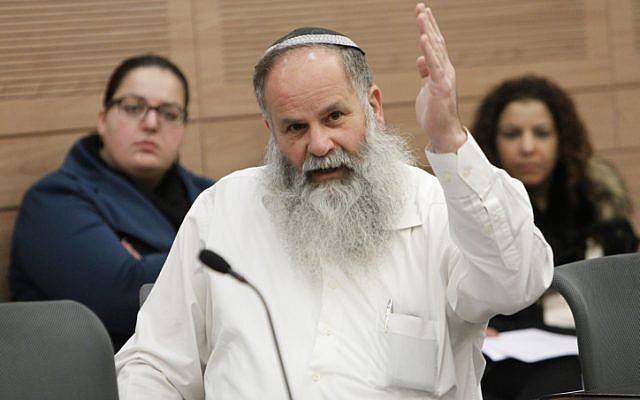 Nathan Nathanson at an Internal Affairs Committee meeting at the Knesset on December 30, 2013. (Miriam Alster/FLASH90)