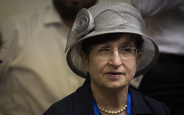 Adina Bar Shalom attends a Shas faction meeting at the Knesse on July 6, 2015. (Hadas Parush/Flash90)