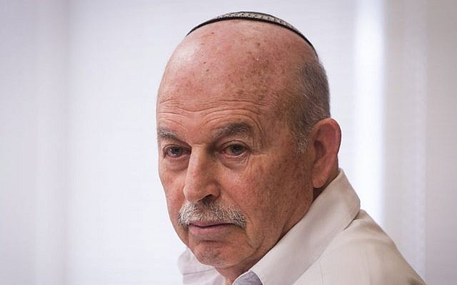 Jewish Home MK Nissan Slomiansky during a party meeting at the Knesset, October 19, 2015. (Miriam Alster/Flash90)