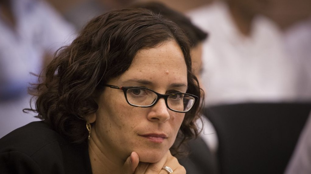 Kulanu party MK Rachel Azaria during a Knesset committee meeting October 26, 2015. (Hadas Parush/Flash90)