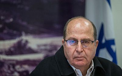 Defense Moshe Ya'alon at a press conference in Jerusalem, November 18, 2015 (Yonatan Sindel/Flash90)