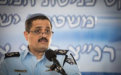 Chief of Police Roni Alsheich, at the National Police Headquarters, Jerusalem, December 03, 2015. (Hadas Parush/Flash90)