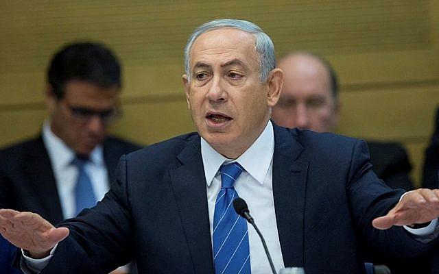 Prime Minister Benjamin Netanyahu speaks in a committee meeting at the Knesset on December 8, 2015. (Yonatan Sindel/Flash90)