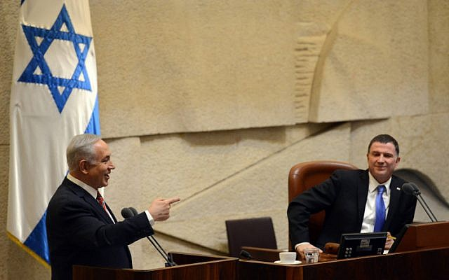 Prime Minister Benjamin Netanyahu at the Knesset, on December 16, 2015.(Haim Zach/GPO)