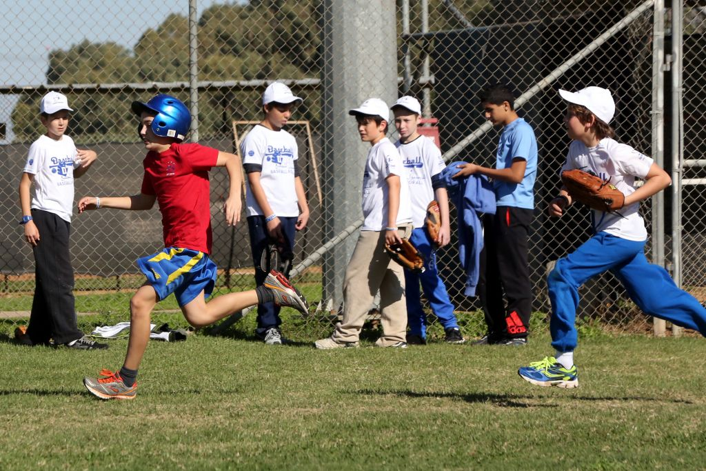 Hanging out at Baptist Village at the Baseball for All program last Friday (Courtesy Association of Baseball in Israel)