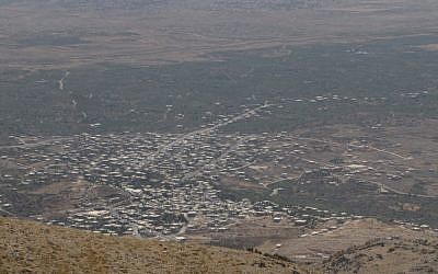 The Syrian Druzxe town of Al-Hader, pictured in 2012 (Ofer 249 / Wikipedia)