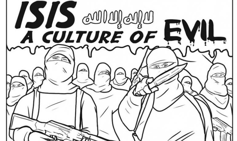 An Image From The Anti Islamic State Coloring Book Produced By Missouri Based Really
