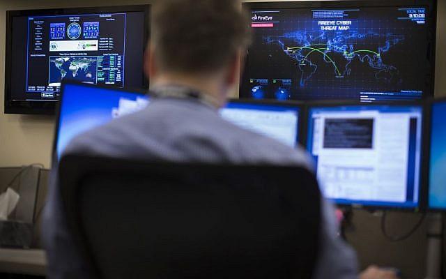 Illustrative photo of a cybersecurity expert (AP/John Minchillo)