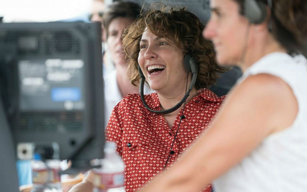 Jill Soloway, writer and director of 'Transparent,' filming the second season of the show on set. (Courtesy of Amazon Studios/via JTA)