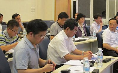 Participants in a Lahav Executive Education program at Tel Aviv University (Courtesy)