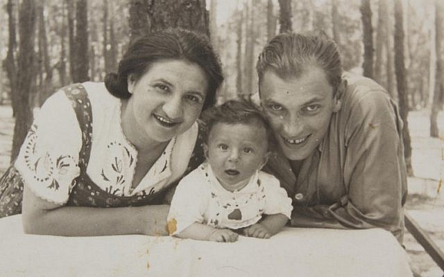 Michael Hochberg as a baby with his parents. (Courtesy of Jewish Foundation for the Righteous)