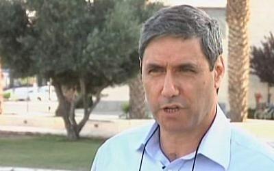 Mayor of Afula Yitzhak Meron. (YouTube/NEWSROOMNORTH1)