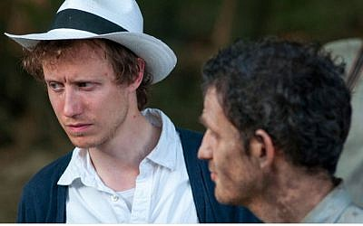 Jewish Hungarian-born director László Nemes on the set of 'Son of Saul.' (courtesy)