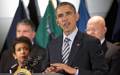 President Barack Obama speaks at the National Counterterrorism Center in McLean, Virginia, Thursday, Dec. 17, 2015. (Pablo Martinez Monsivais/AP Photo)