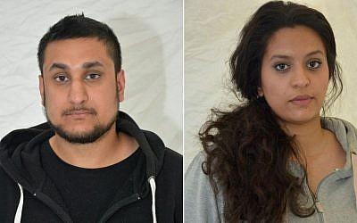 Mohammed Rehman and Sana Ahmed Khan (AFP)