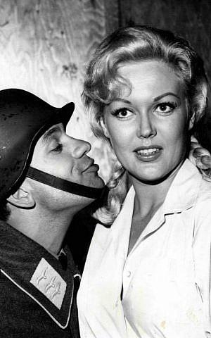 Robert Clary as Lebeau and Cynthia Lynn as Fräulein Helga from 'Hogan's Heroes.' (public domain)