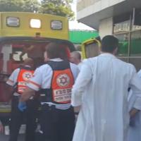 Illustrative: A victim of a West Bank stabbing attack arrives at Beilinson Hospital in Petah Tikva on December 24, 2015. (Magen David Adom)