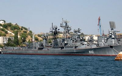 The Russian navy destroyer Smetlivy. (CC BY-ASA Участник:Водник, Wikimedia)