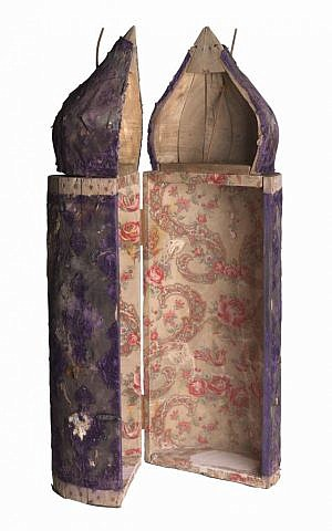 Tik (Torah case) from Baghdad, 19th-20th century. (Jewish Museum of Florida-FIU)