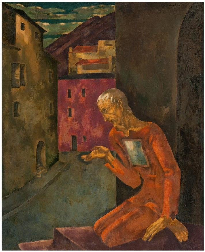 Detail from The Beggar, courtesy of the The Company for Location and Restitution of Holocaust Victims' Assets