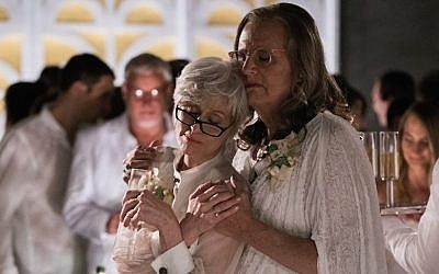 Jeffrey Tambor, right, with Judith Light in the second season of 'Transparent,' a show about a Jewish father who transitions and how his family reacts. (Courtesy of Amazon Studios)