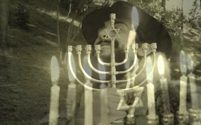 "Screenshot from 'SHALOM - Adele ""Hello"" Chanukah/Hanukkah Parody.' (YouTube)"