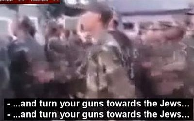 Algerian troops on the march (Memri screenshot)