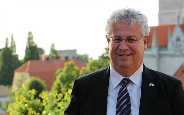 Ambassador Isaac Bachman (courtesy Israeli embassy Stockholm)