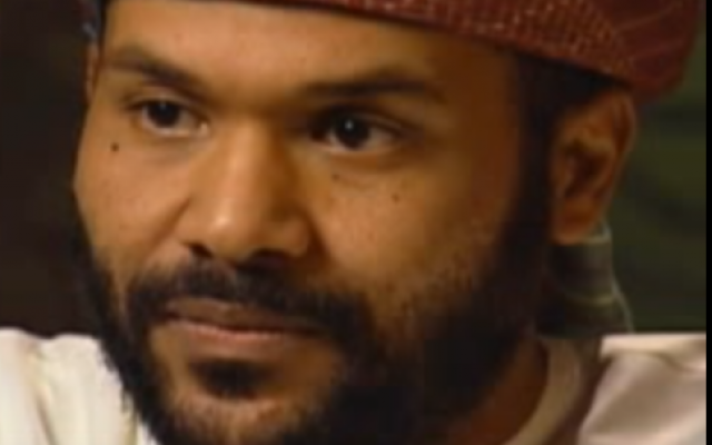 Osama bin Laden's former bodyguard Nasser al-Bahri  during a interview for Alaan TV, July 18, 2012. (Screenshot from YouTube)