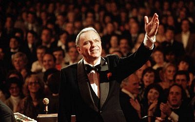 Frank Sinatra performing at Royal Albert Hall in London, September 1, 1980. (David Redfern/Redferns/Getty Images via JTA)