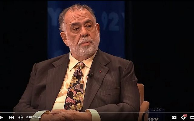 Francis Ford Coppola discusses his life and career on the series 'Reel Pieces with Annette Insdorf.' (screen capture: YouTube)