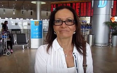Ilana Romano, the widow of slain Olympian Yossef Romano in the 1972 Munich massacre (YouTube screenshot)