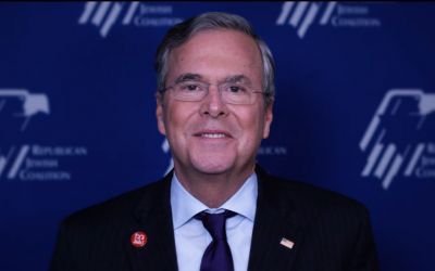 Jeb Bush wishes the American Jewish community a Happy Hanukkah in a video by the Republican Jewish Coalition. (Screenshot)