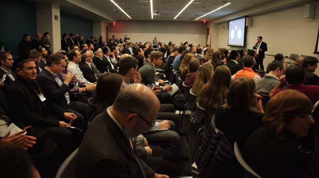 Attendees at the Kamatech event in New York (Courtesy)