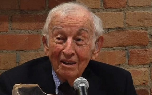 Food anthropologist Sidney Mintz talks at Duke University in 2013 (screen capture: YouTube)
