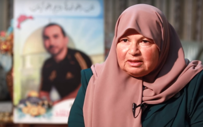 64-year-old East Jerusalem resident Zeinat Jilad who was arrested by Israel for suspected ties with the northern branch of the Islamic Movement on December 9, 2015 (screen capture: YouTube)