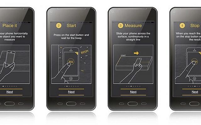 Screenshots of MySizeID's SizeUp application (Courtesy)