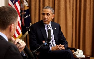 US President Barack Obama during an interview with NPR, December, 2015. (YouTube/NPR)