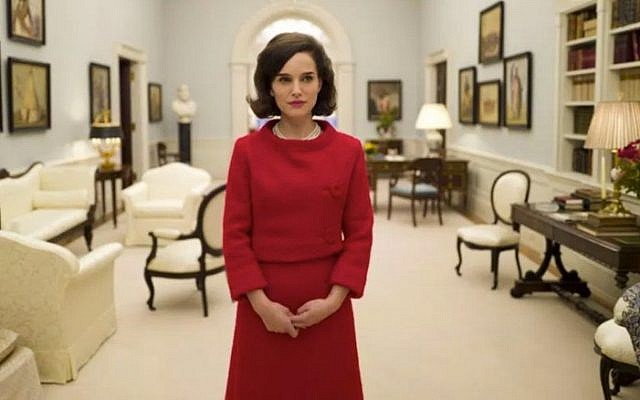 Natalie Portman as Jackie Kennedy in an upcoming movie about the widowed first lady. (courtesy Protozoa Pictures)