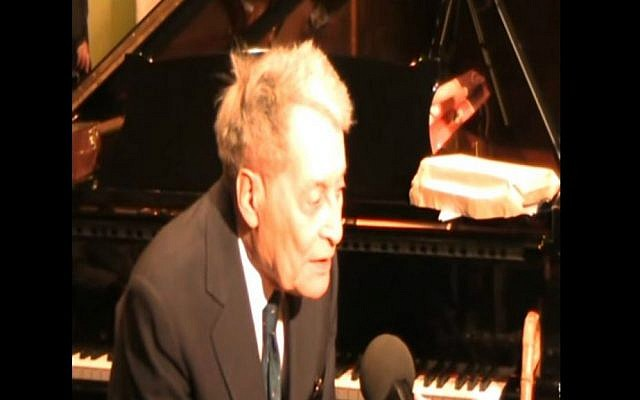 Andreja Preger, a noted concert pianist and Jewish communal activist who survived the Holocaust as part of Yugoslavia's anti-Nazi partisans, in 2011. (YouTube screenshot)