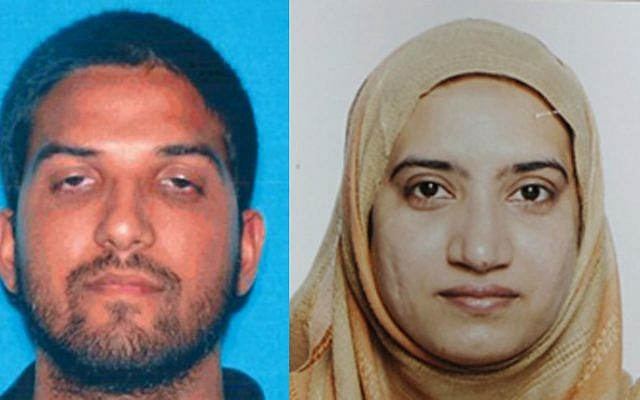 Syed Farook, left, and his wife Tashfeen Malik, killed 14 people in a shooting attack at a center for the disabled in San Bernardino, California on December 2, 2015.  (Photos from California Department of Motor Vehicles and FBI via AP)